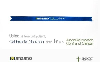CALDERERIA MANZANO y la Asociación Española Contra el Cáncer.