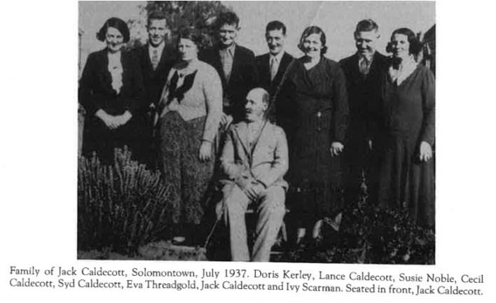 John Oswald Caldicott and family