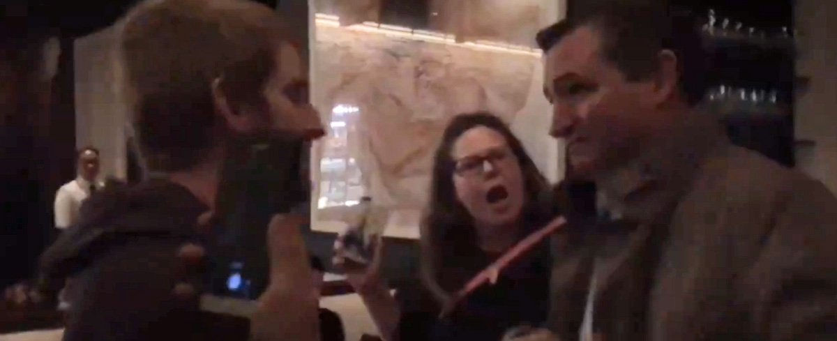 "Leftist protesters force Ted Cruz and his wife out of restaurant: ""Sexist, racist, anti-gay!"""