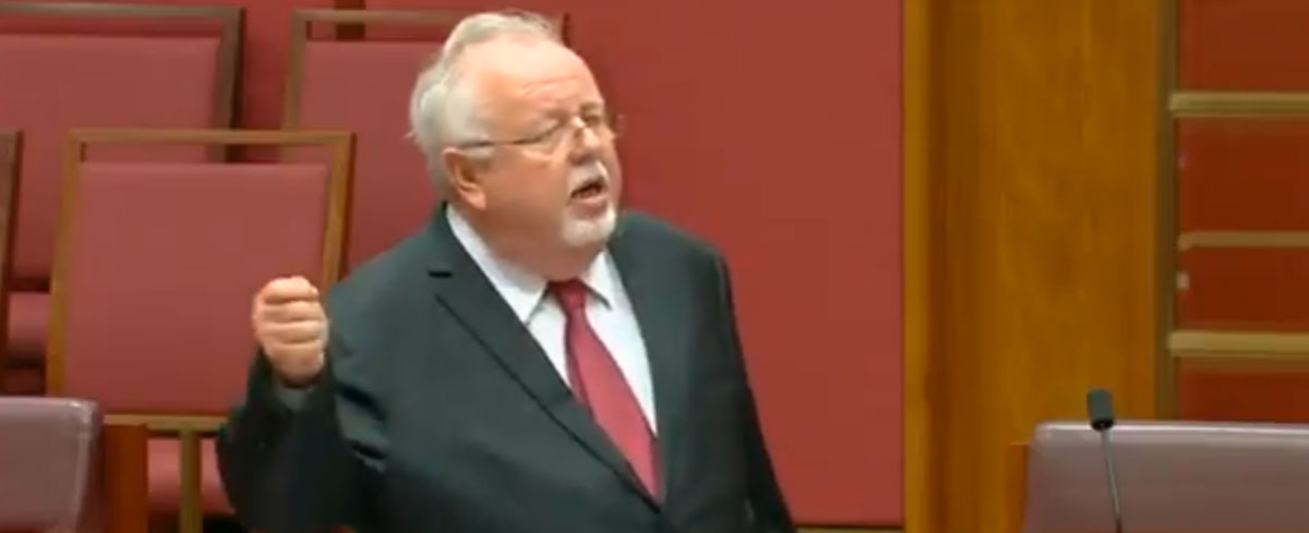 Australian Senator declares himself a woman so that pro-choice lefties will no longer be able to attack him for opposing abortion.