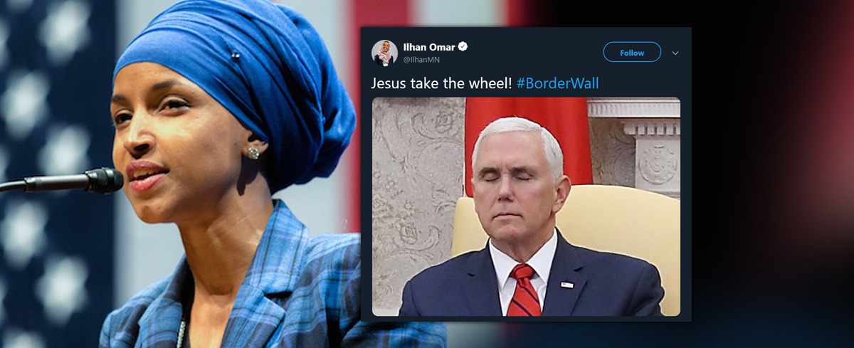 Muslim Congresswoman mocks Mike Pence's Christian faith.