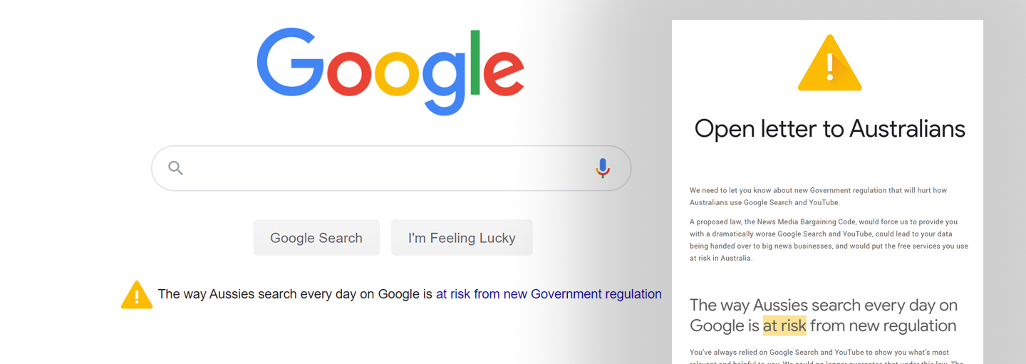 "Google Writes Open Letter to Australians, Warning Free Services and Your Data ""At Risk"" · Caldron Pool"