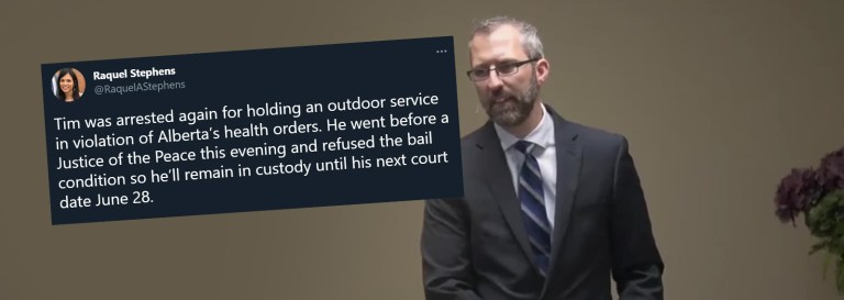 Pastor Tim Stephens Jailed Until End of Month For Holding Outdoor Church Service