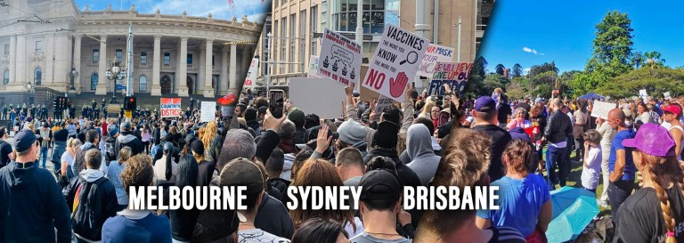 """""""No More Lockdowns"""": THOUSANDS of Australians Rally for Freedom in Sydney, Melbourne, Brisbane"""