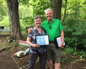 Jean Kerins receiving the 2016 Ross McLean Award