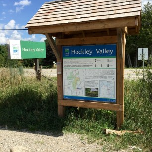 Hockley Valley Parking Lot Sign