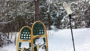 Snowshoes on the trail in Hockley Valley