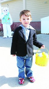 James Byrne, 3, of Brampton had a basket filled with eggs at the end of the Easter Egg Hunt.