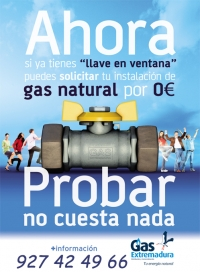 Gas Natural, cómodo, barato