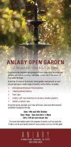 Open Gardens - Historic Anlaby Station Sat 14th Oct 2017 @ Anlaby Station | Hamilton | South Australia | Australia