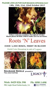 Roots 'N' Leaves SA – Open Iris Gardens – 14th Oct 2017 @ Roots 'N' Leaves | Brownlow | South Australia | Australia