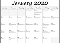 January 2020 calendar fun holidays2