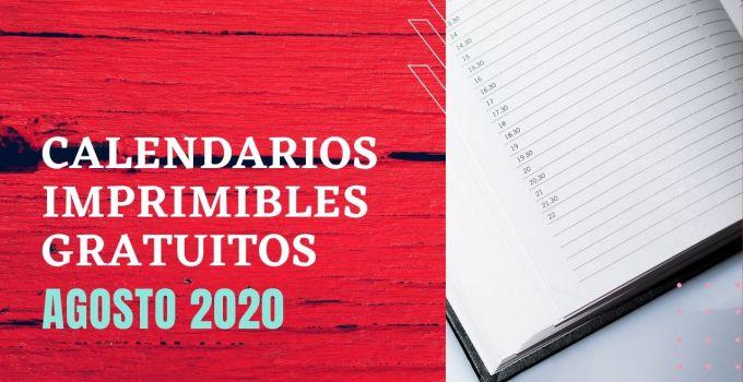 agosto 2020 calendario