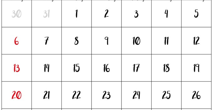 2020 September Calendar Printable