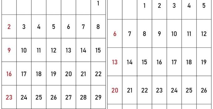 kalender 2020 august september