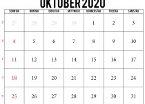 kalender oktober 2020 pdf