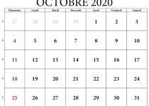 vacances octobre 2020