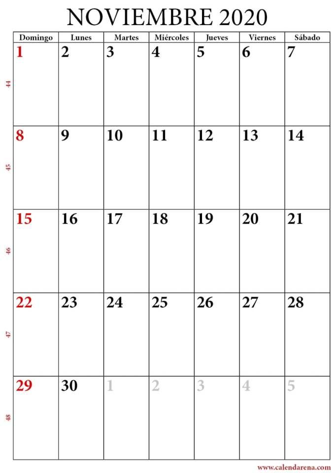 calendario noviembre 2020 para imprimir-retrato