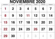 noviembre calendario 2020 paisaje