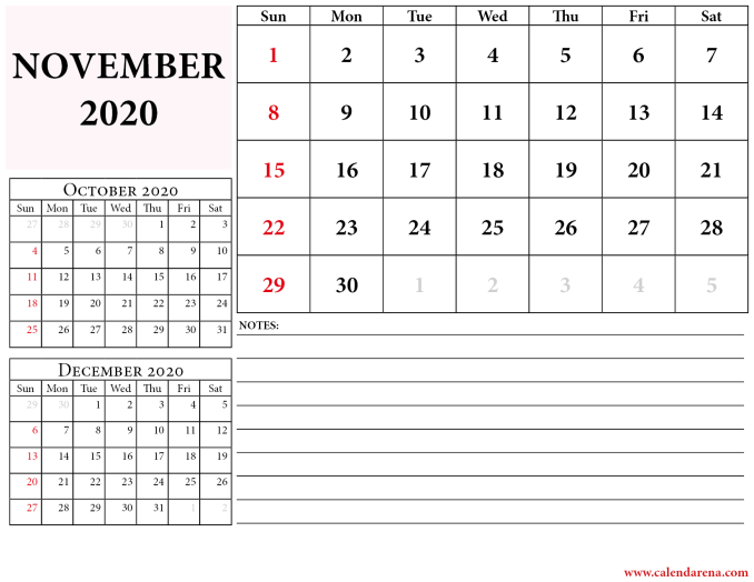 october november december 2020 calendar_2