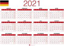 kalendar 2021 zum Ausdrucken