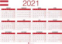 2021 Kalender zum Ausdrucken Österreich