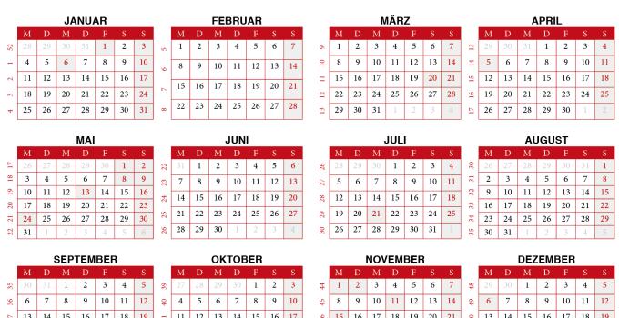 kalendar 2021 zum Ausdrucken Belgien