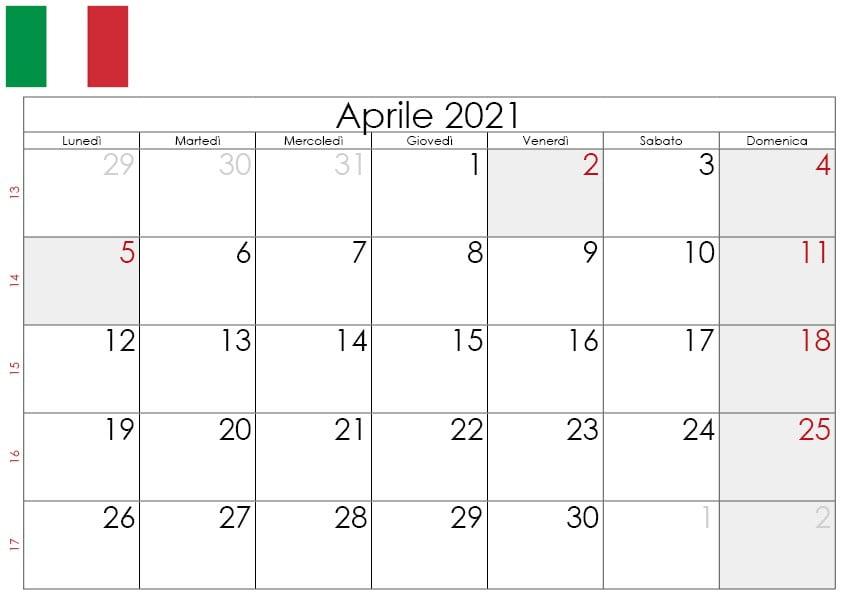 Calendario aprile 2021 da stampare2