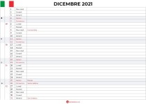 calendario settimanale da stampare dicembre 2021
