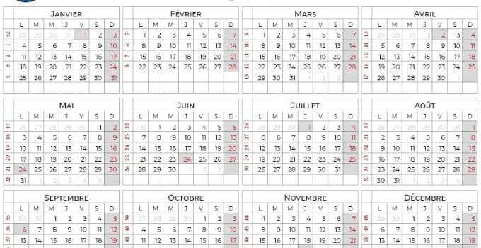 calendrier 2021 à imprimer quebec
