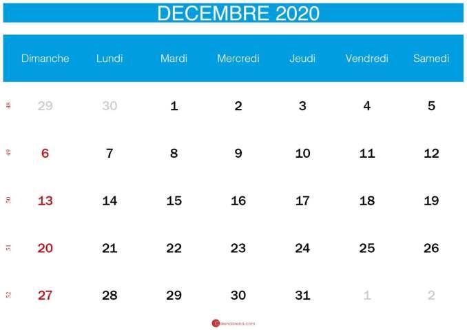 calendrier decembre 2020_bleu