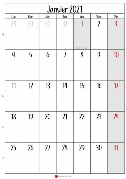 calendrier janvier 2021 gratuit_portrait