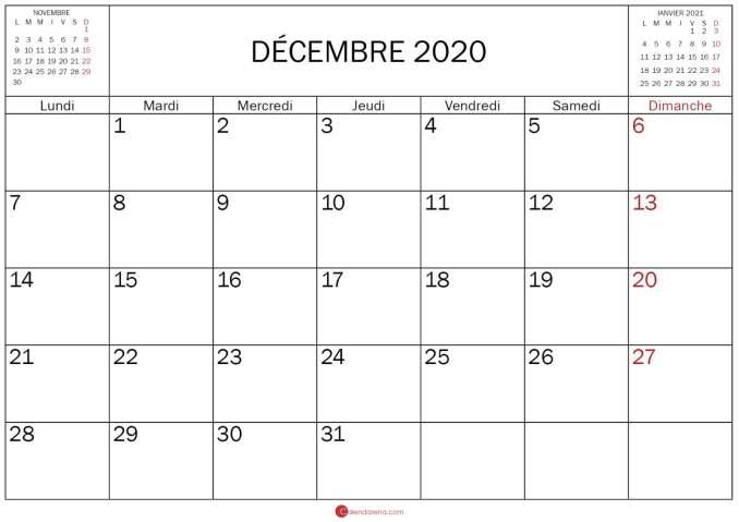 calendrier novembre decembre janvier 2020_modele2