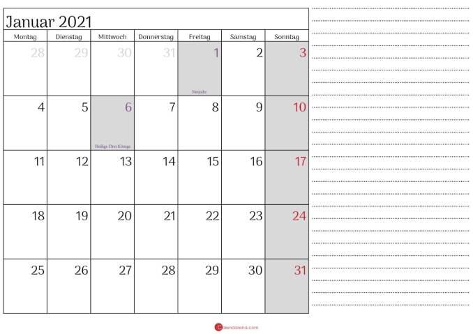 januar 2021 kalender mit notizen_3