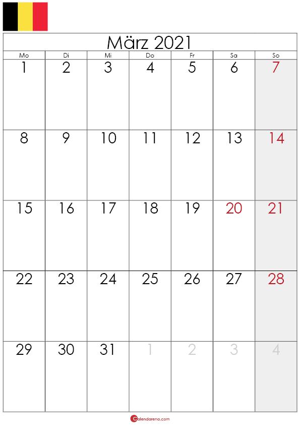 kalender märz 2021 belgien hochformat