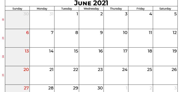 calendar june 2021 AU