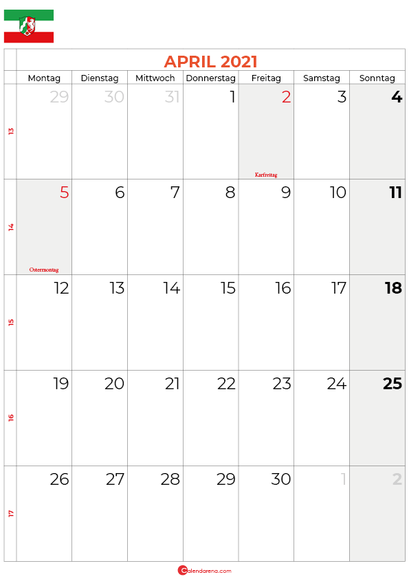 2021-april-kalender-Nordrhein-Westfalen
