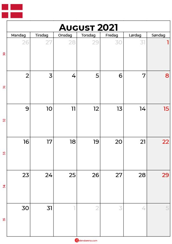 august 2021 kalender