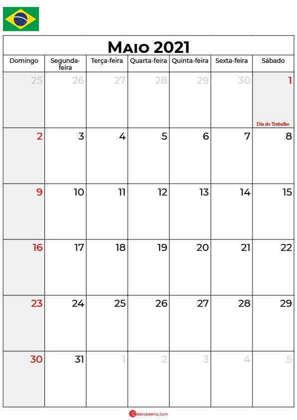 calendário de maio de 2021 brasil