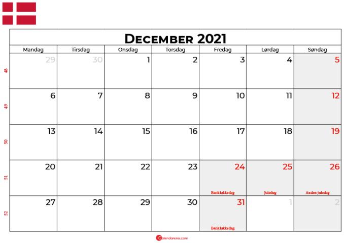 kalender december 2021