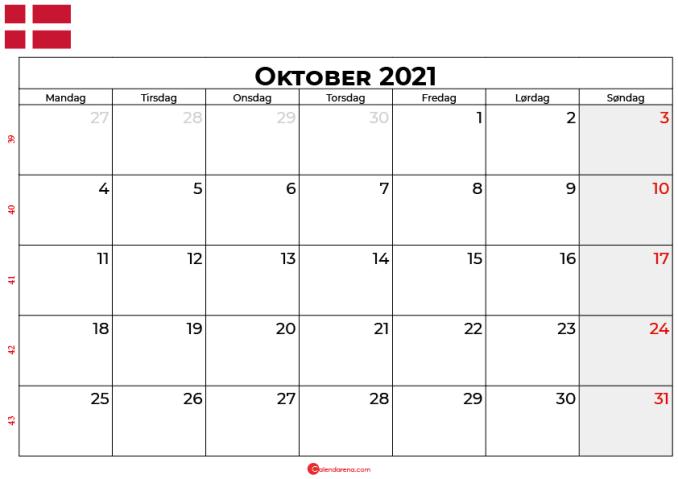 kalender oktober 2021