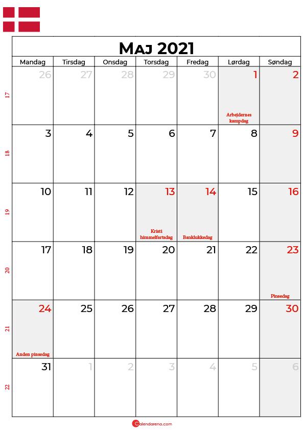 maj 2021 kalender