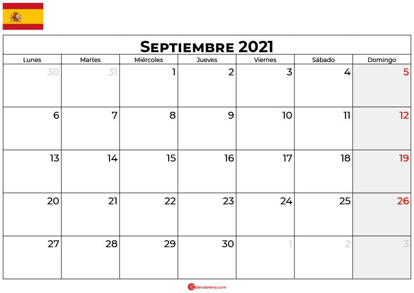 calendario 2021 septiembre espana