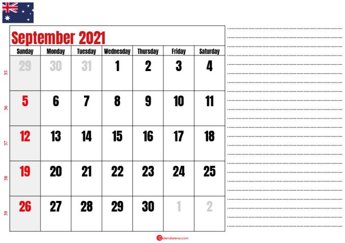 printable september 2021 calendar au