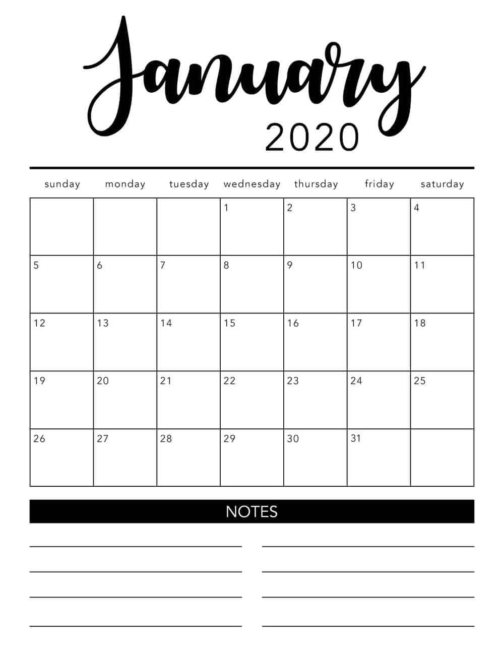 Homemade labels make sorting and organization so much easier. Get Fill In Printable Calendar 2020 Monthly   Calendar ...