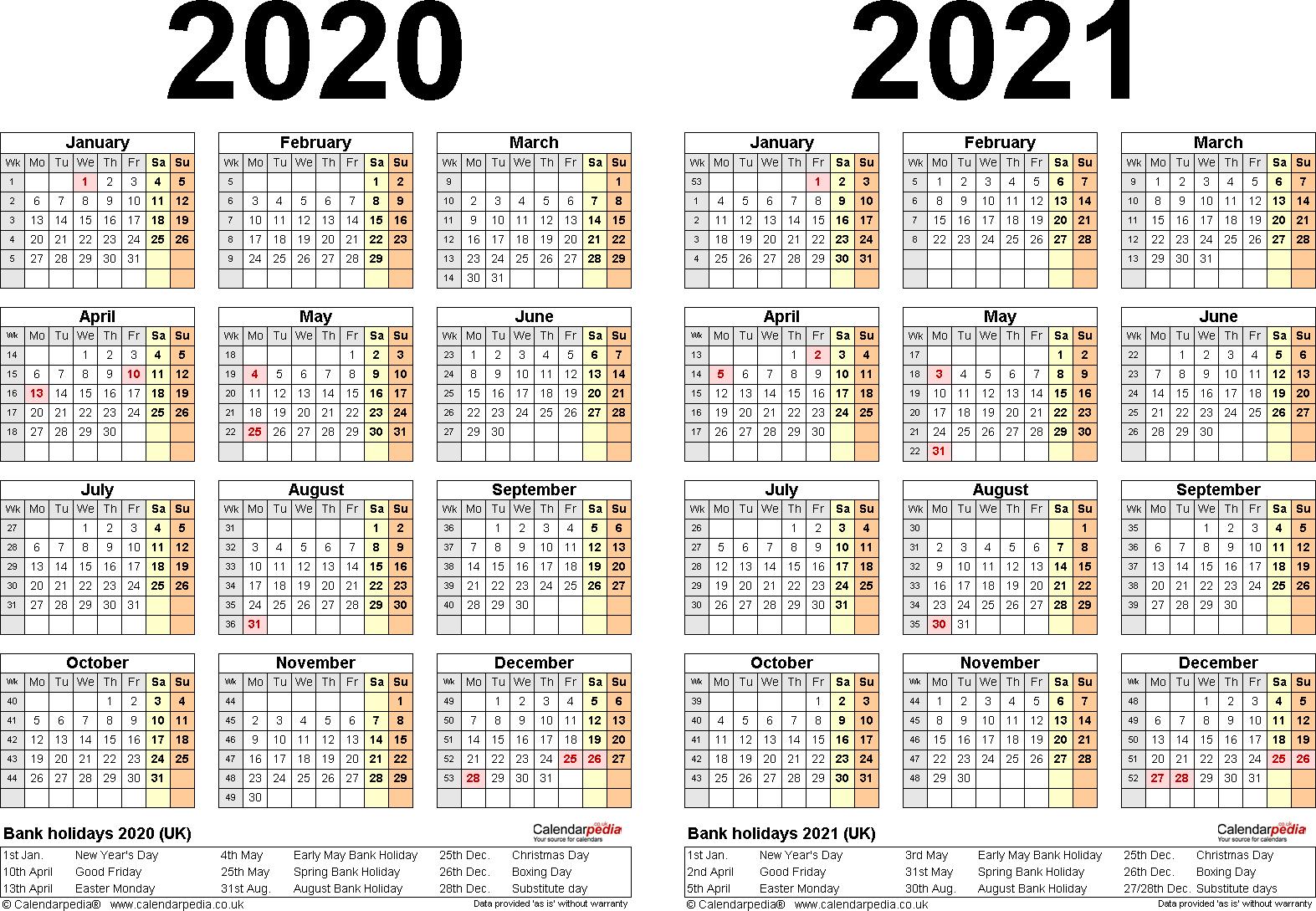 2021 2022 calendar editable printable (updated year to year) this editable printable calendar updated for 2021 2022 2023 is simple to use. Get Two Year Calendar 2020 2021 | Calendar Printables Free ...