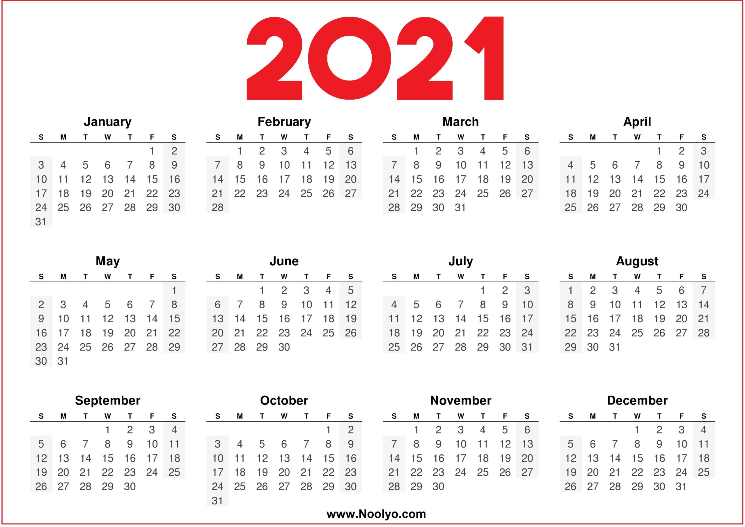 Download free printable 2021 yearly calendar pdf and customize template as you like. Fill Andprint A Calendar 2021 | Calendar Printables Free Blank