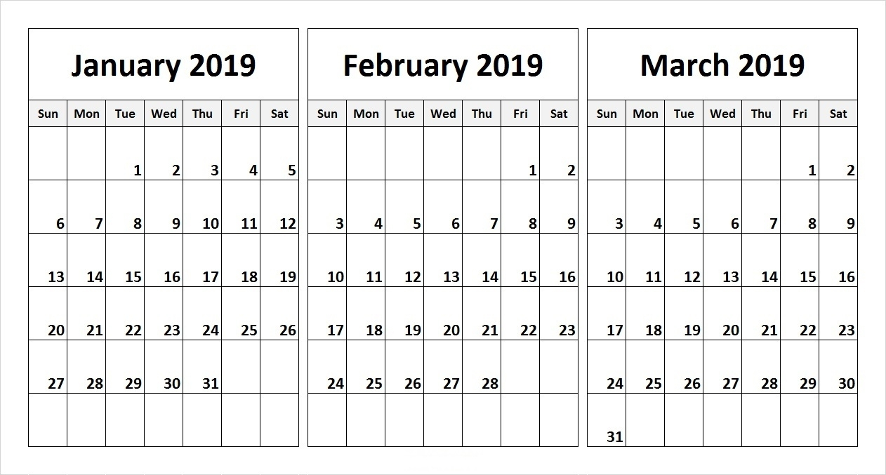 Whether you need to print labels for closet and pantry organization or for shipping purposes, you can make and print custom labels of your very own. Free Three Month Printable Calendar Pages - Calendar ...