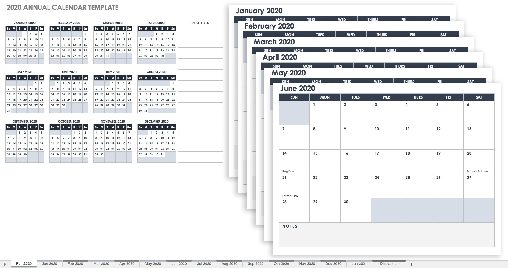 12 Month Training Calendar Template