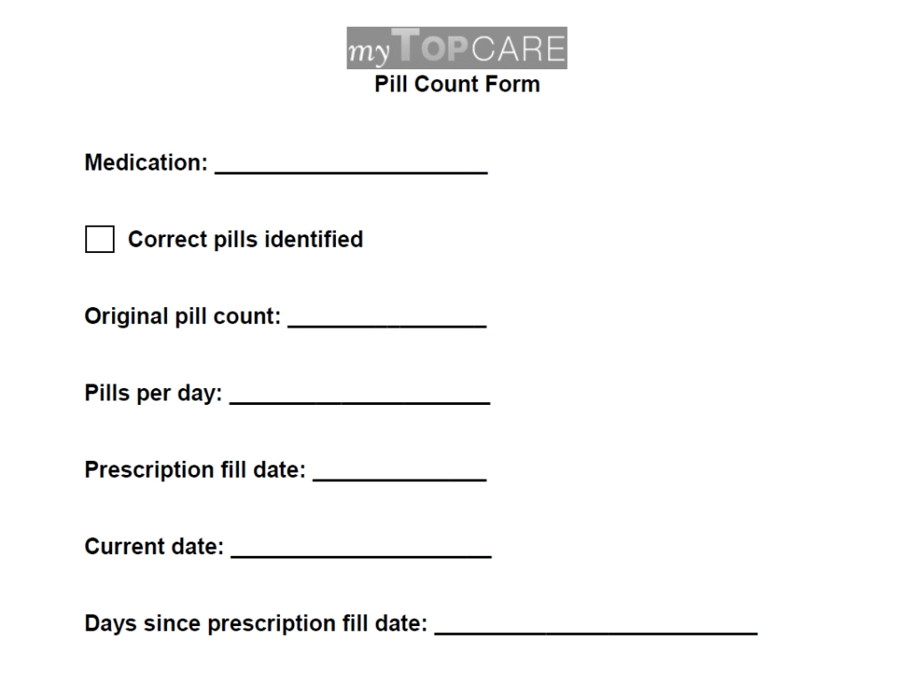 Printable 30 Day Medication Sheet